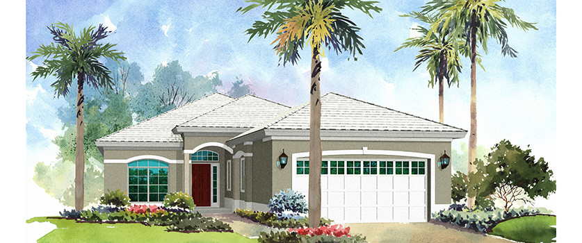Artist Rendering of the Ashley by Renar Homes