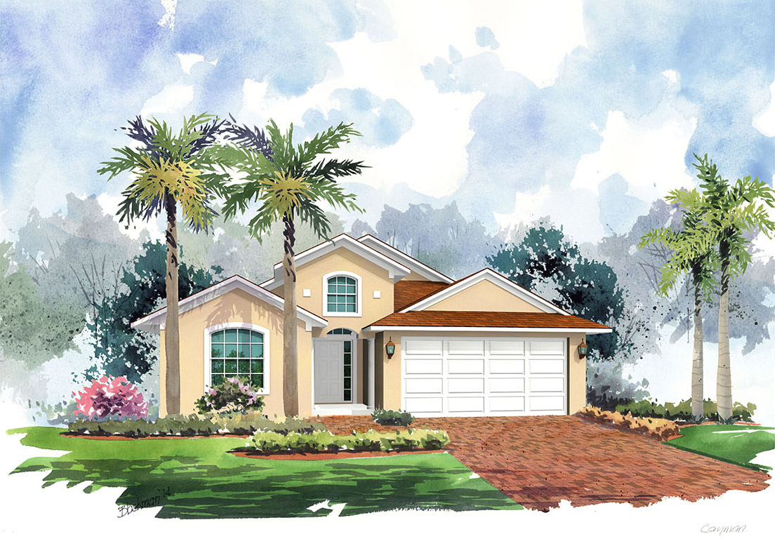 Artist Rendering of the Cayman 1516 - C by Renar Homes