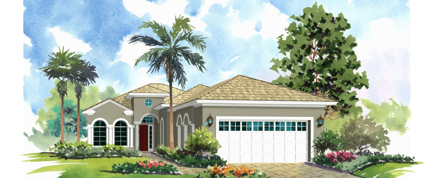 Diana 1815 by Renar Homes - Artist Rendering A