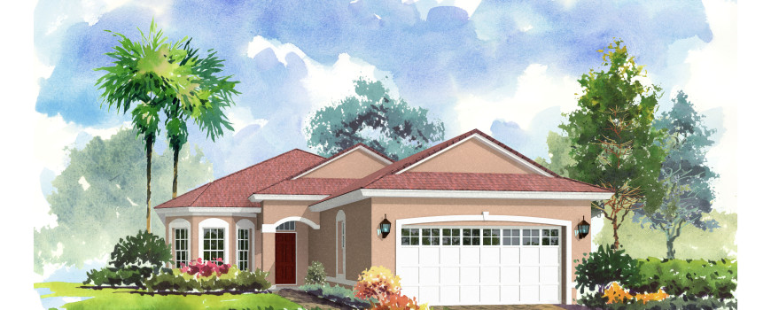 Renee 2031 by Renar Homes - Artist Rendering B